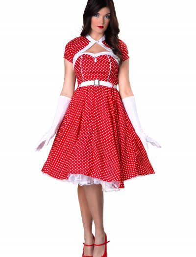 Plus Size 1950s Sweetheart Dress Costume, halloween costume (Plus Size 1950s Sweetheart Dress Costume)