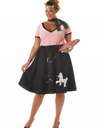 Plus Size 50s Sweetheart Costume, halloween costume (Plus Size 50s Sweetheart Costume)