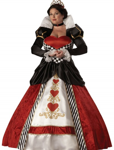 Plus Size Adult Queen of Hearts Costume, halloween costume (Plus Size Adult Queen of Hearts Costume)