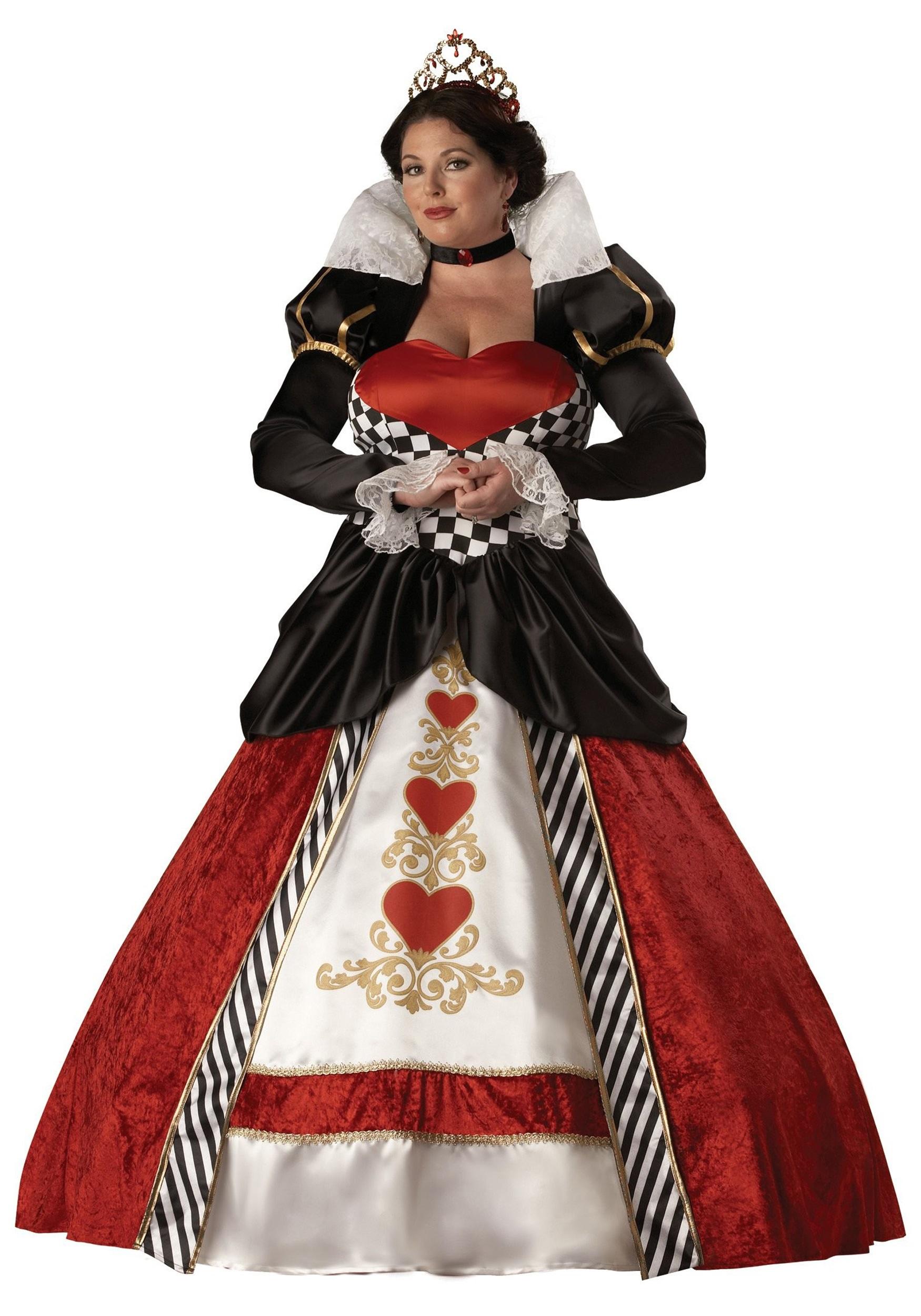 Plus Size Adult Queen of Hearts Costume - Halloween Costumes