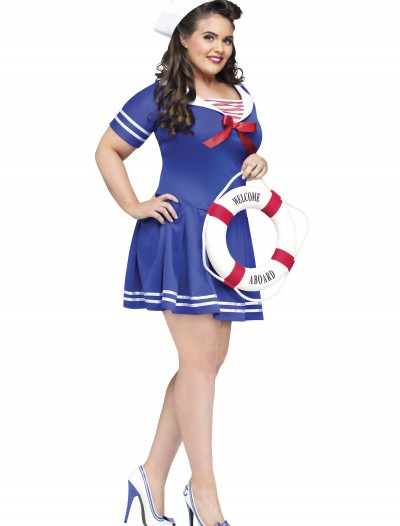 Plus Size Anchors Away Costume, halloween costume (Plus Size Anchors Away Costume)