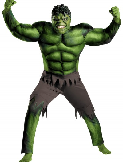 Plus Size Avengers Hulk Muscle Costume, halloween costume (Plus Size Avengers Hulk Muscle Costume)
