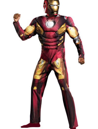 Plus Size Avengers Iron Man Muscle Costume, halloween costume (Plus Size Avengers Iron Man Muscle Costume)