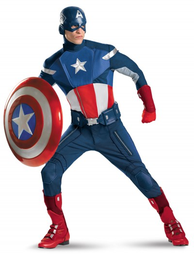 Plus Size Avengers Replica Captain America, halloween costume (Plus Size Avengers Replica Captain America)