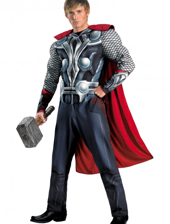 Plus Size Avengers Thor Muscle Costume, halloween costume (Plus Size Avengers Thor Muscle Costume)
