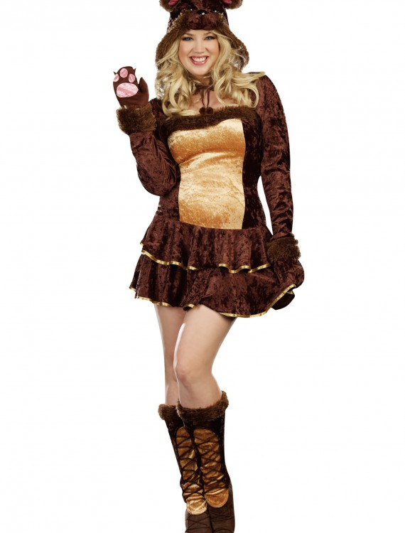 Plus Size Bear Hugs Costume, halloween costume (Plus Size Bear Hugs Costume)