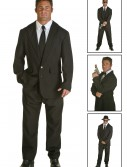 Plus Size Black Suit Costume, halloween costume (Plus Size Black Suit Costume)