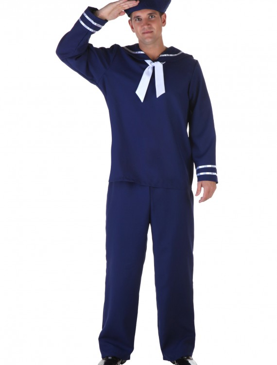 Plus Size Blue Sailor Costume, halloween costume (Plus Size Blue Sailor Costume)