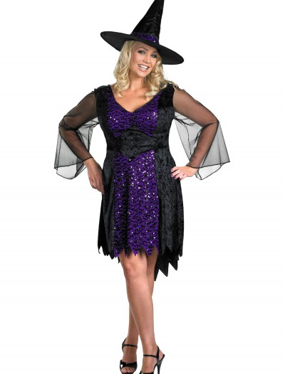 Plus Size Brilliant Witch Costume, halloween costume (Plus Size Brilliant Witch Costume)