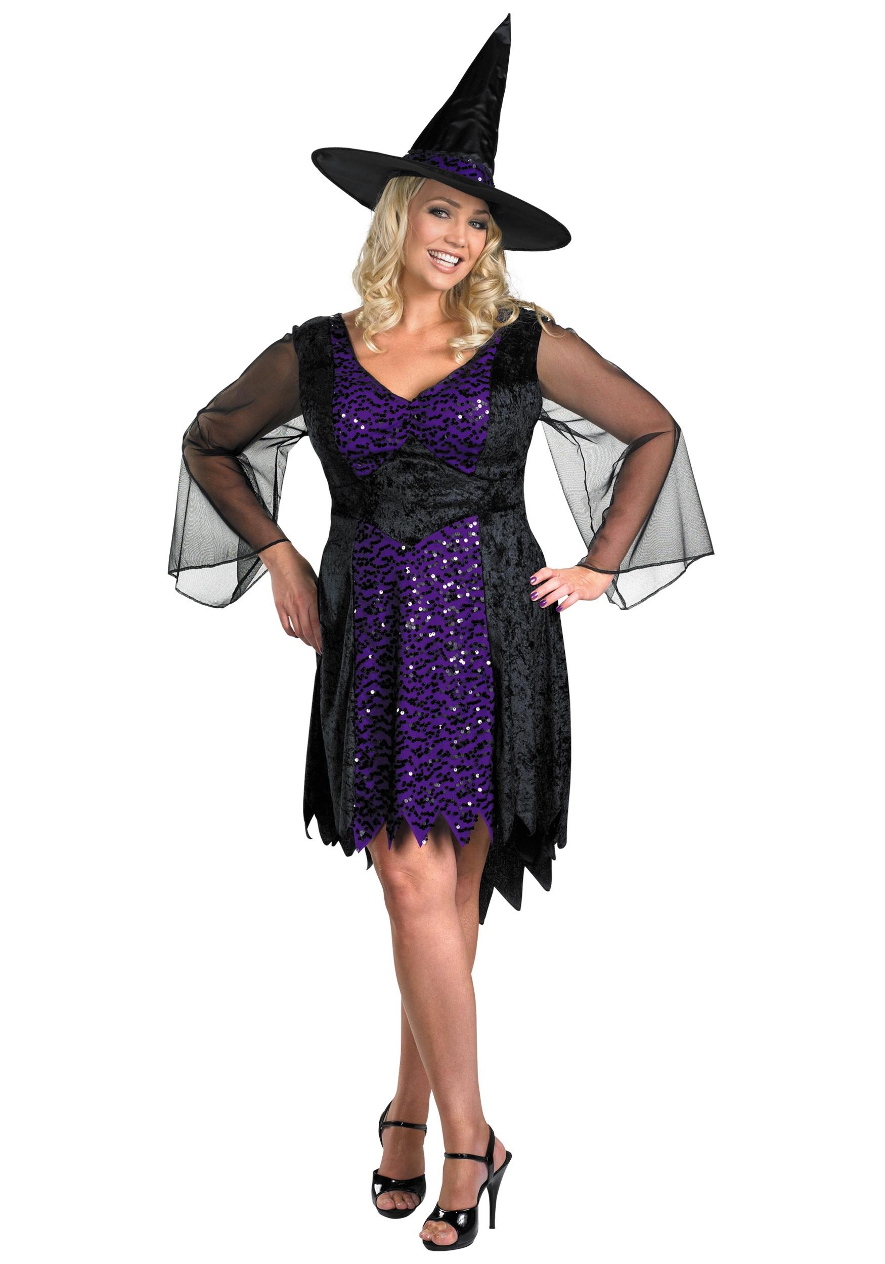 Plus Size Brilliant Witch Costume  sc 1 st  Halloween Costumes & Plus Size Brilliant Witch Costume - Halloween Costumes