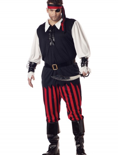 Plus Size Cutthroat Pirate Costume, halloween costume (Plus Size Cutthroat Pirate Costume)