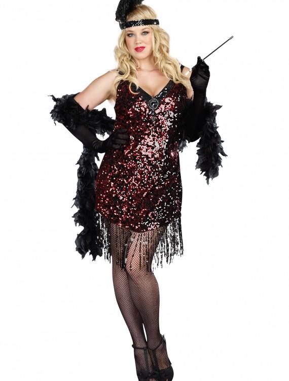 Plus Size Dames Like Us Flapper Costume, halloween costume (Plus Size Dames Like Us Flapper Costume)
