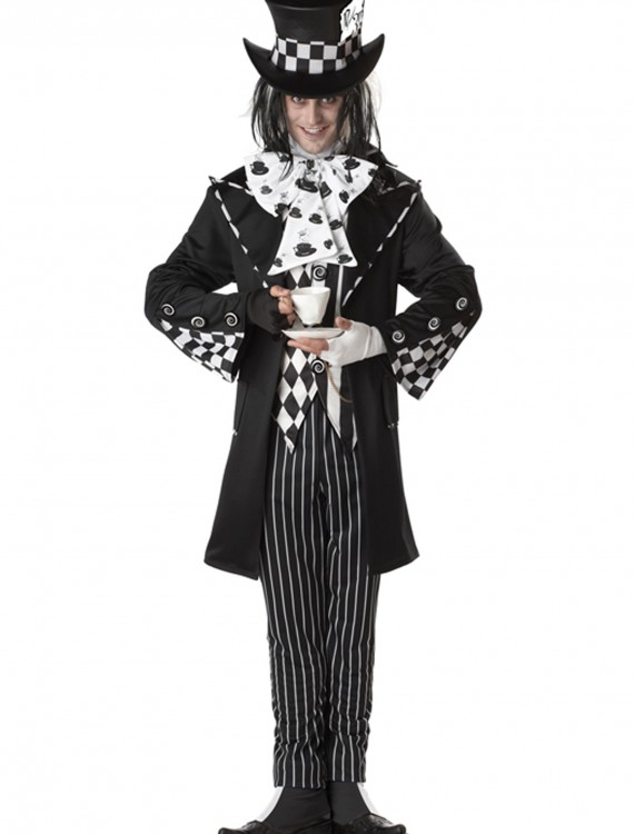 Plus Size Dark Mad Hatter Costume, halloween costume (Plus Size Dark Mad Hatter Costume)