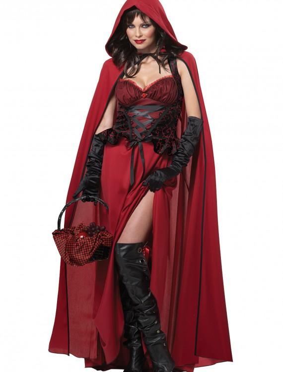 Plus Size Dark Red Riding Hood, halloween costume (Plus Size Dark Red Riding Hood)