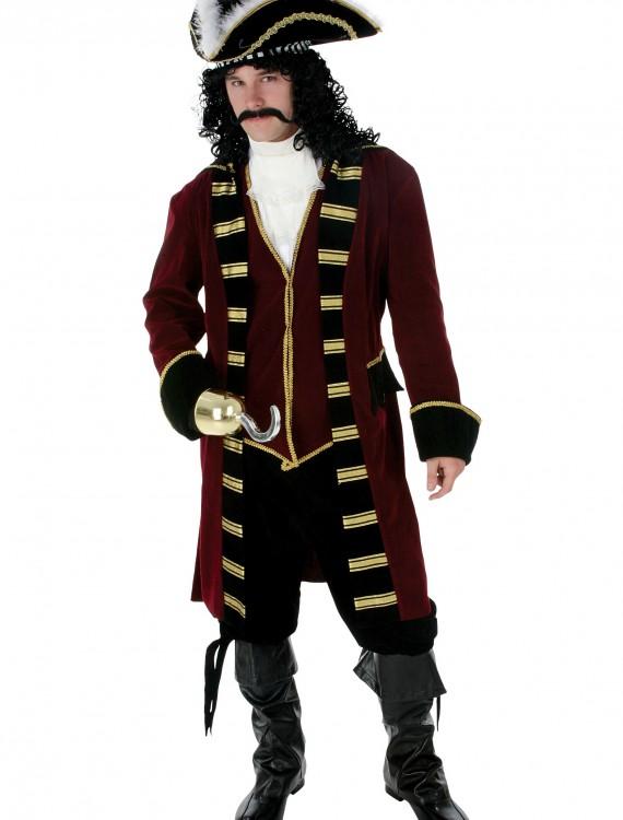 Plus Size Deluxe Captain Hook Costume, halloween costume (Plus Size Deluxe Captain Hook Costume)