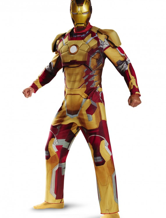 Plus Size Deluxe Iron Man Mark 42 Costume, halloween costume (Plus Size Deluxe Iron Man Mark 42 Costume)