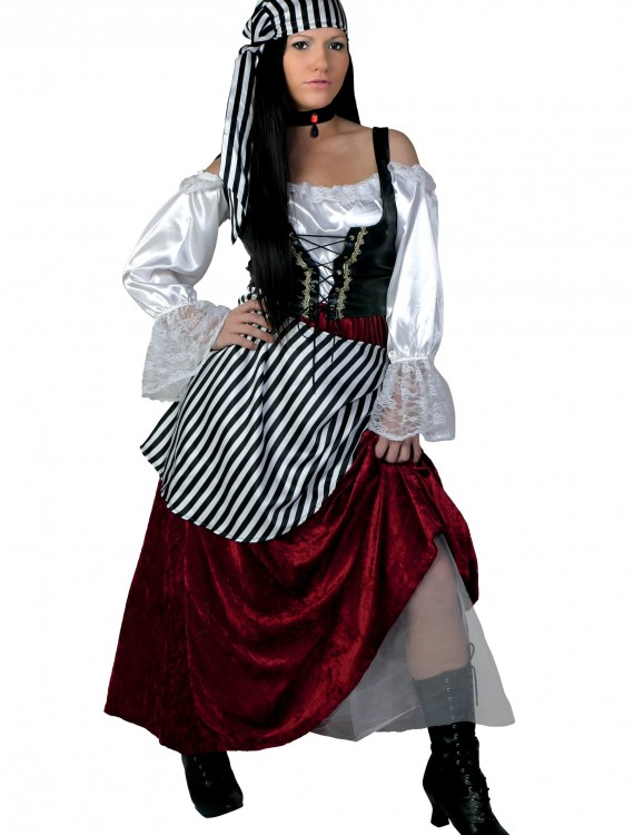 Plus Size Deluxe Pirate Wench Costume, halloween costume (Plus Size Deluxe Pirate Wench Costume)
