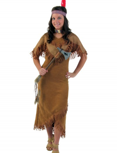 Plus Size Deluxe Women's Indian Costume, halloween costume (Plus Size Deluxe Women's Indian Costume)