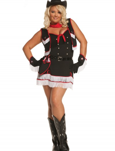 Plus Size Dirty Desperado Cowgirl Costume, halloween costume (Plus Size Dirty Desperado Cowgirl Costume)
