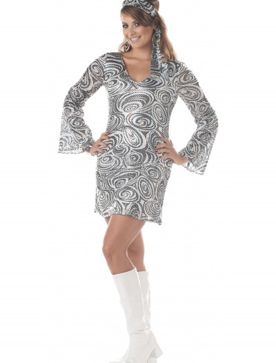 Plus Size Disco Diva Dress, halloween costume (Plus Size Disco Diva Dress)