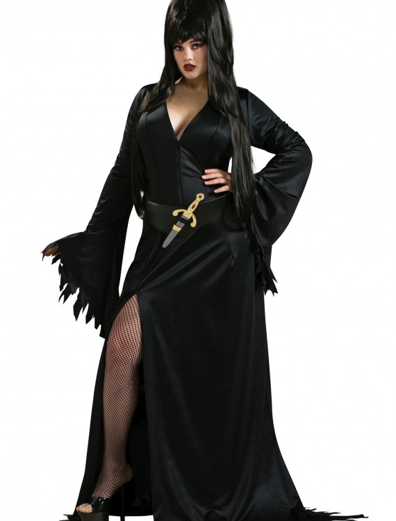 Plus Size Elvira Costume, halloween costume (Plus Size Elvira Costume)