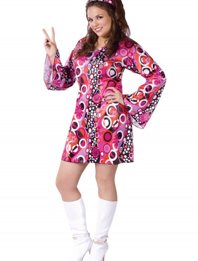 Plus Size Feelin Groovy Dress, halloween costume (Plus Size Feelin Groovy Dress)