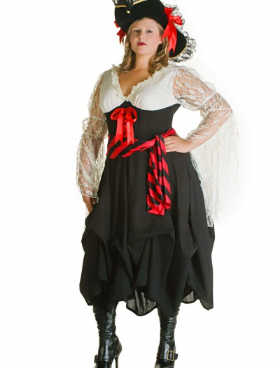 Plus Size Female Pirate Costume, halloween costume (Plus Size Female Pirate Costume)