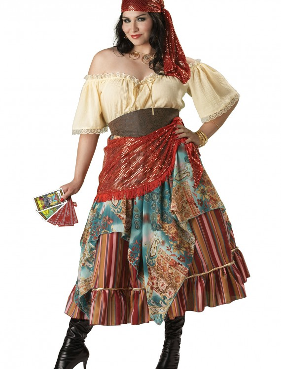 Plus Size Fortune Teller Costume, halloween costume (Plus Size Fortune Teller Costume)