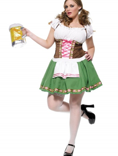 Plus Size German Beer Girl Costume, halloween costume (Plus Size German Beer Girl Costume)