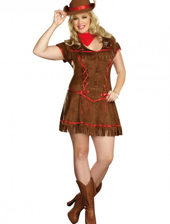 Plus Size Giddy Up Cowgirl Costume, halloween costume (Plus Size Giddy Up Cowgirl Costume)