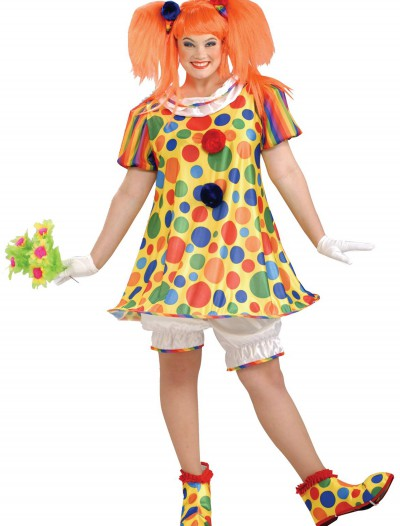 Plus Size Giggles the Clown Costume, halloween costume (Plus Size Giggles the Clown Costume)