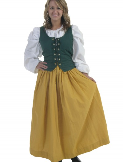 Plus Size Gold Peasant Skirt, halloween costume (Plus Size Gold Peasant Skirt)