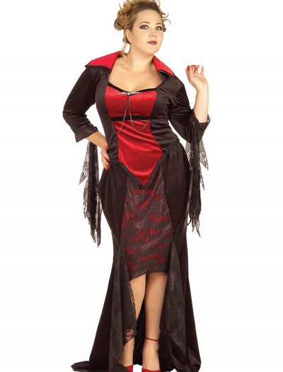 Plus Size Gothic Vampire Costume, halloween costume (Plus Size Gothic Vampire Costume)