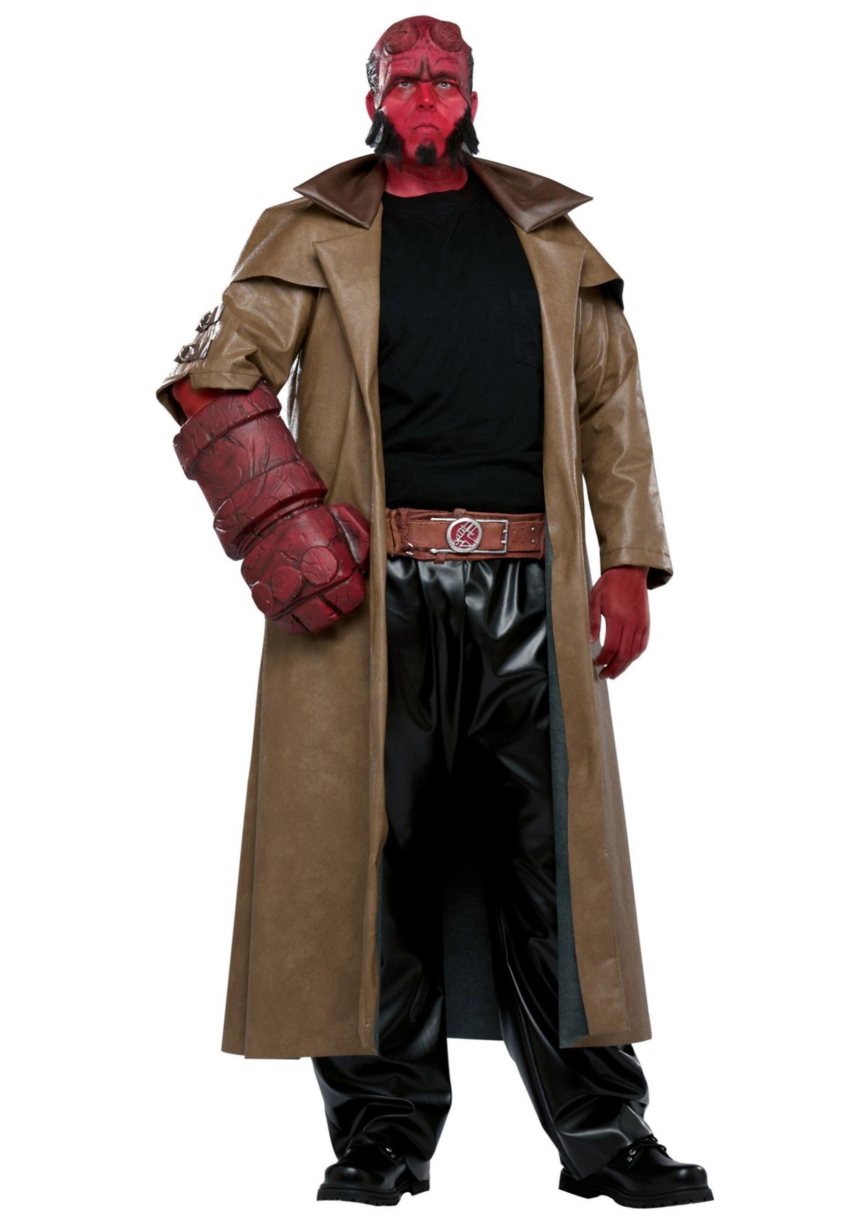 plus size hellboy costume