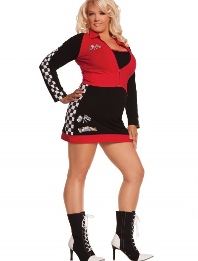 Plus Size High Speed Hottie Costume, halloween costume (Plus Size High Speed Hottie Costume)