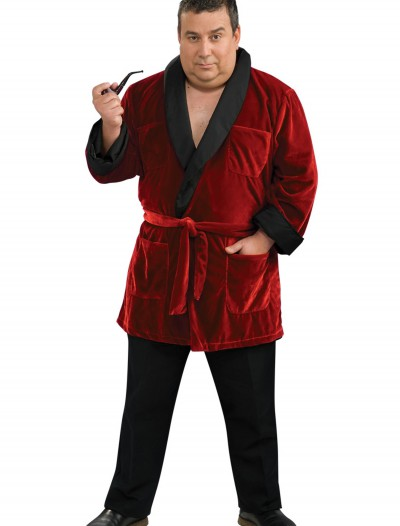 Plus Size Hugh Hefner Costume, halloween costume (Plus Size Hugh Hefner Costume)