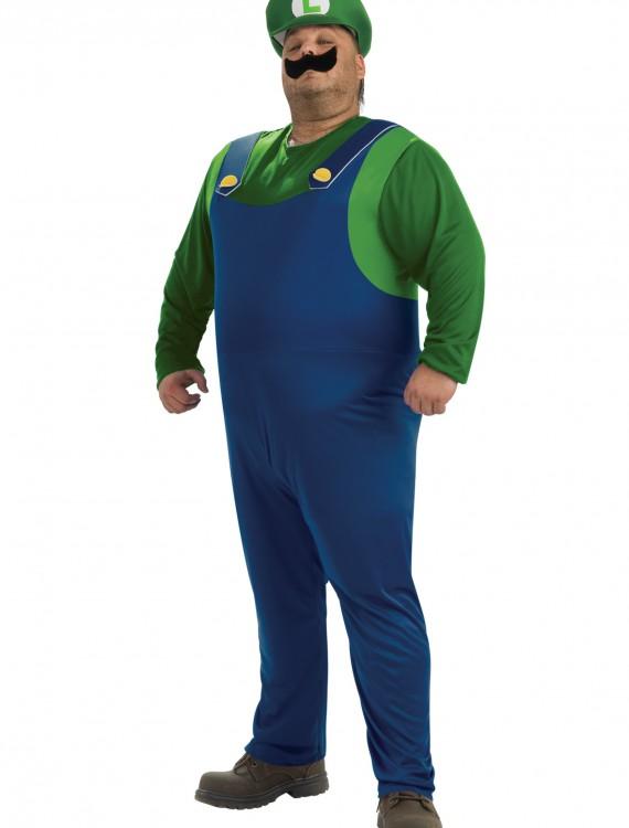 Plus Size Luigi Costume, halloween costume (Plus Size Luigi Costume)