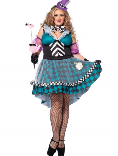 Plus Size Manic Mad Hatter Costume, halloween costume (Plus Size Manic Mad Hatter Costume)