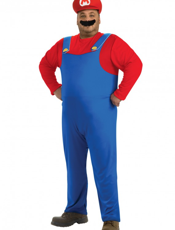 Plus Size Mario Costume, halloween costume (Plus Size Mario Costume)