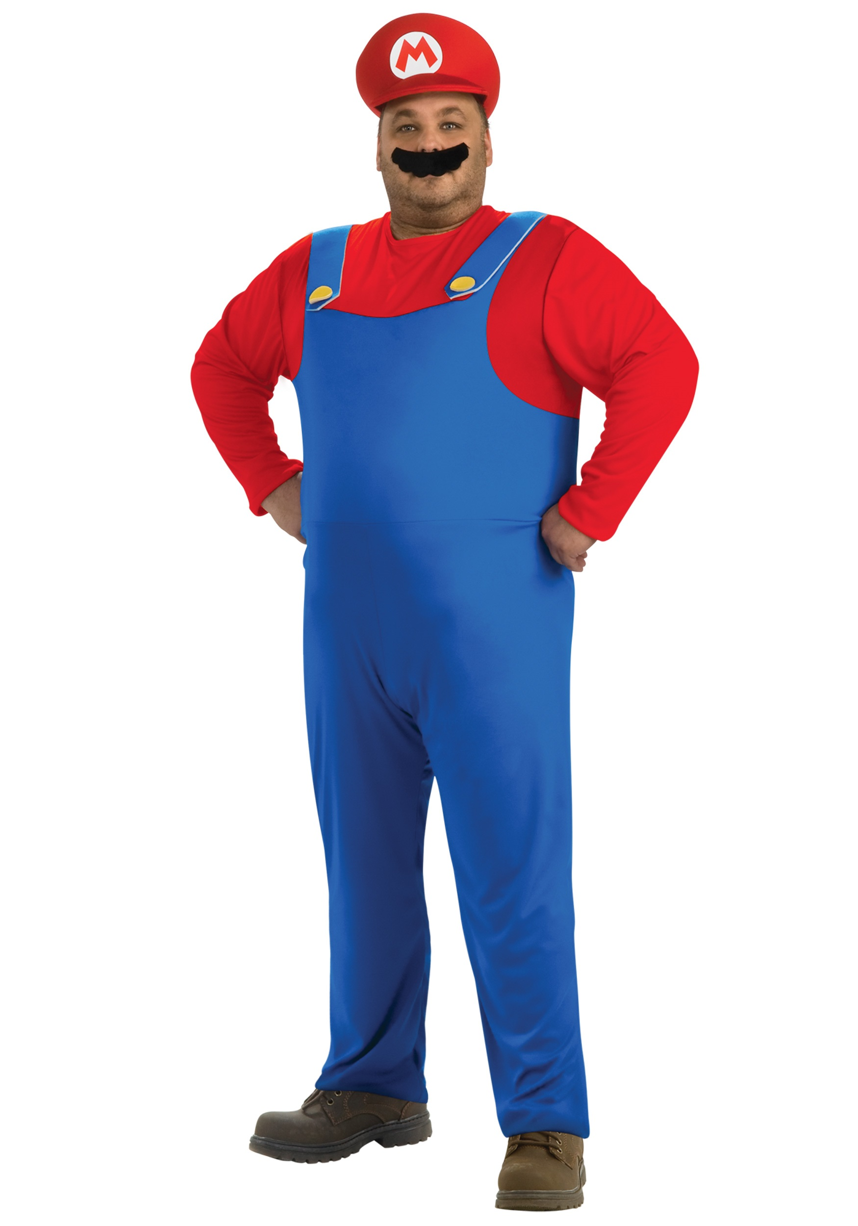 Plus Size Mario Costume  sc 1 st  Halloween Costumes & Plus Size Mario Costume - Halloween Costumes