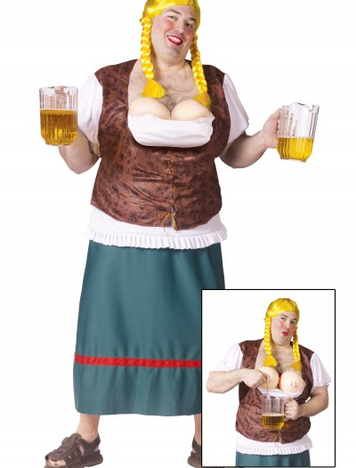 Plus Size Mens German Beer Girl, halloween costume (Plus Size Mens German Beer Girl)