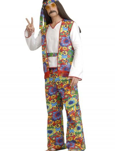 Plus Size Men's Hippie Costume, halloween costume (Plus Size Men's Hippie Costume)