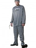 Plus Size Men's Prisoner Costume, halloween costume (Plus Size Men's Prisoner Costume)