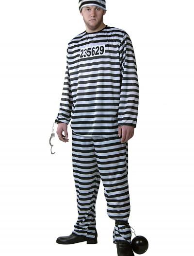 Plus Size Men's Prisoner Costume, halloween costume (Plus Size Men's Prisoner Costume)