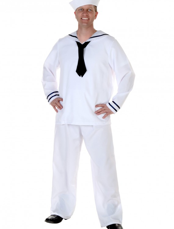 Plus Size Men's Sailor Costume, halloween costume (Plus Size Men's Sailor Costume)