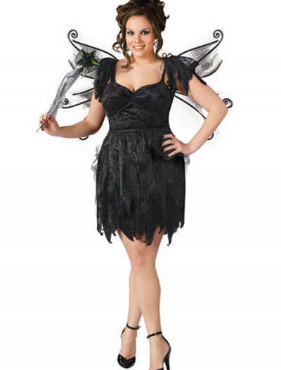 Plus Size Midnight Fairy Costume, halloween costume (Plus Size Midnight Fairy Costume)