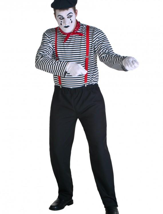 Plus Size Mime Costume, halloween costume (Plus Size Mime Costume)