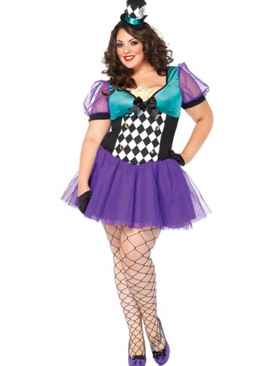 Plus Size Miss Mad Hatter Costume, halloween costume (Plus Size Miss Mad Hatter Costume)