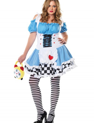 Plus Size Miss Wonderland Costume, halloween costume (Plus Size Miss Wonderland Costume)