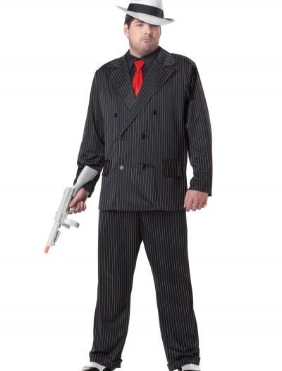 Plus Size Mob Boss Costume, halloween costume (Plus Size Mob Boss Costume)